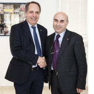Italia e Calabrese, presidente entrante e uscente di Conad Sicilia