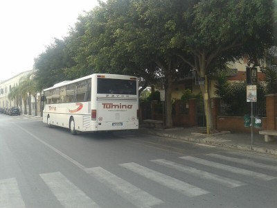 Autobus in via Benedetto Brin