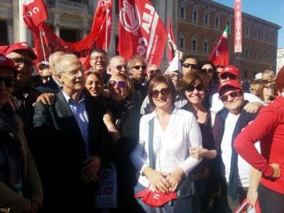 I dirigenti della Cgil di Ragusa a Roma (2)