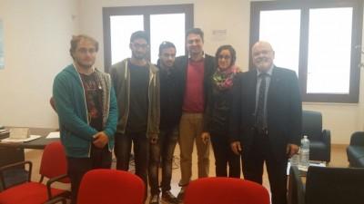 Il presidente Borrometi, D'Asta e gli studenti eletti