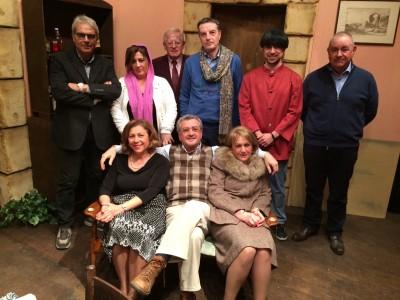 Maurizio Nicastro e la compagnia Amici del teatro di Chiaramonte