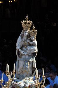 Il simulacro della Madonna