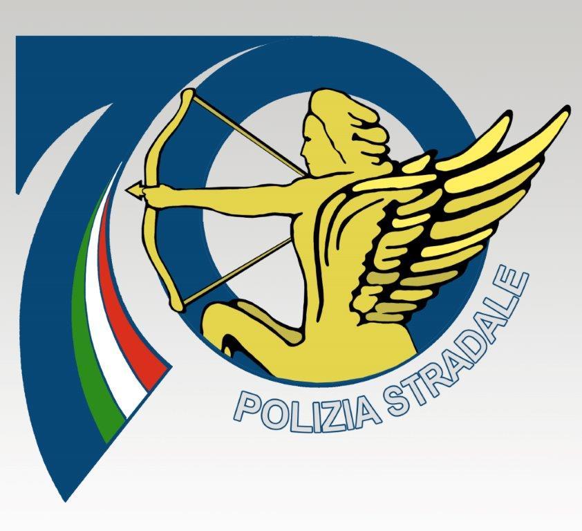 logo 70 anni polizia stradale telenova ragusa