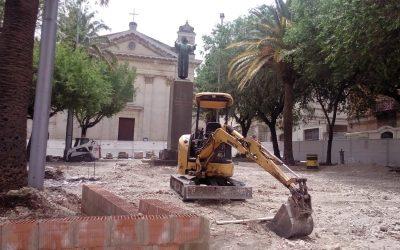 I lavori in piazza Cappuccini a Ragusa