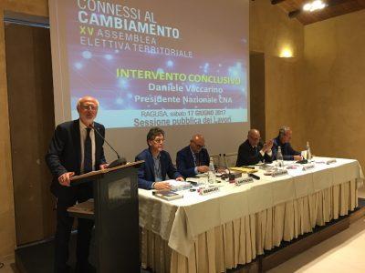 Il presidente nazionale Daniele Vaccarino oggi a Ragusa