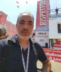 Il segr gen Cgil Ragusa Scifo alla manifestazione di Roma