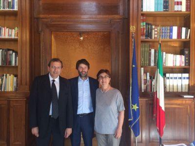 Il sindaco Giannone, il ministro Franceschini, la senatrice Padua
