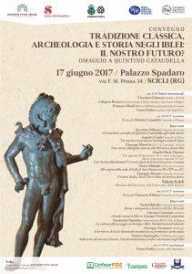 Manifesto convegno Palazzo Spadaro - Tradizione classica, Archeologia e Storia negli Iblei