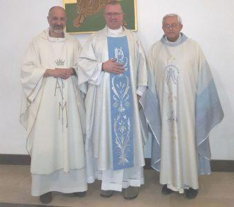 Padre Dell'Agli, padre Russelli e padre Guarneri