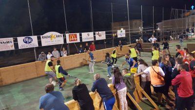 Una partita del calcio balilla umano al Preziosissimo sangue